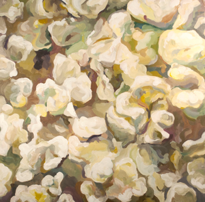 food painting popcorn danika ostrowski yellow