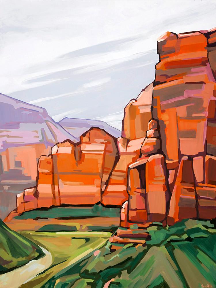 zion canyon art danika ostrowski