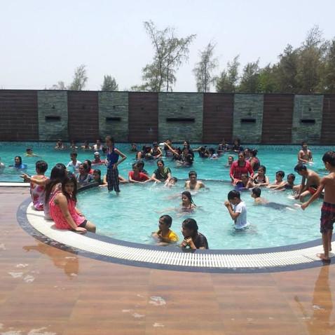 Swimming pool at casa