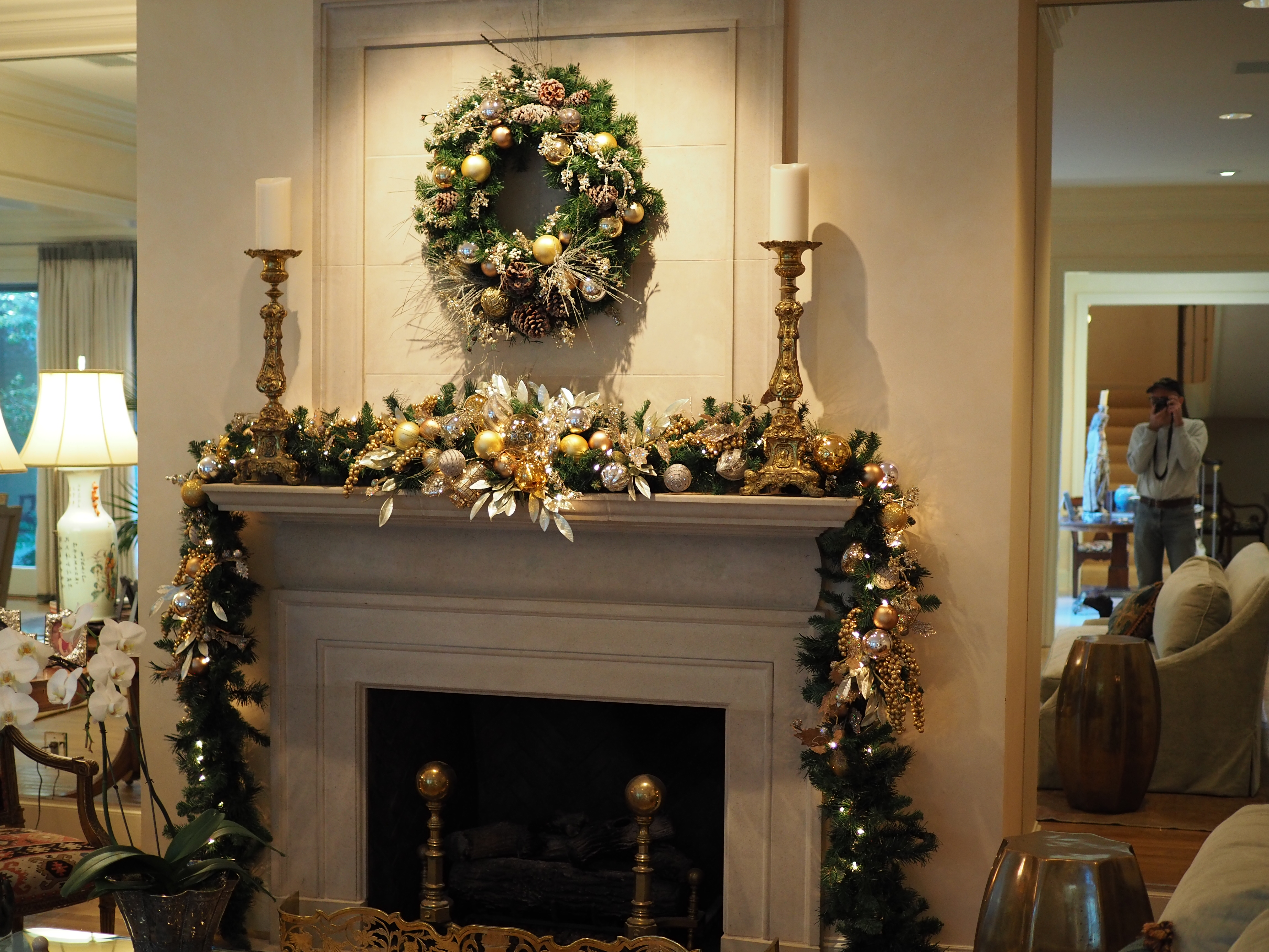 Wreath and Mantle Piece