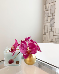 Orchid in Gold Vase
