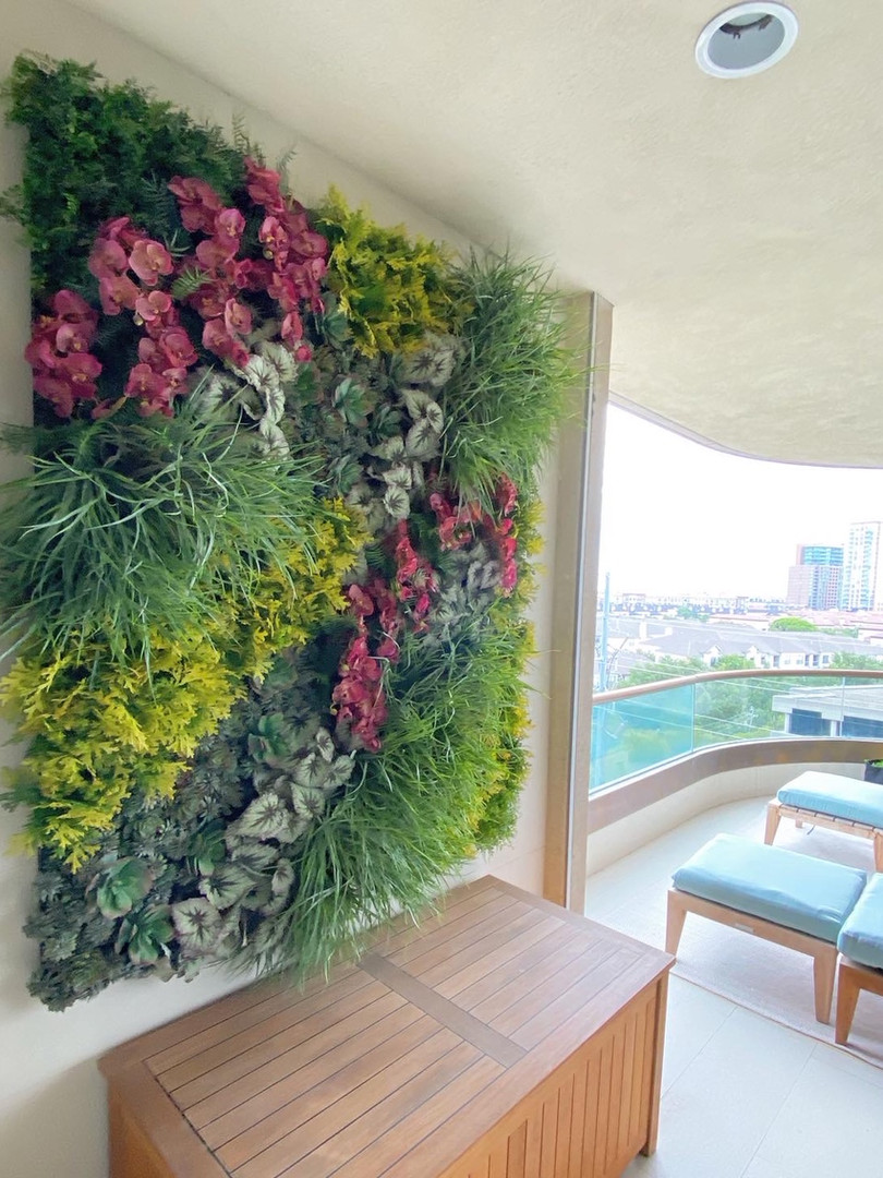 """Planted """"Living"""" Wall"""