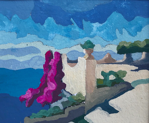 Bougauvillea and Blue, 2019