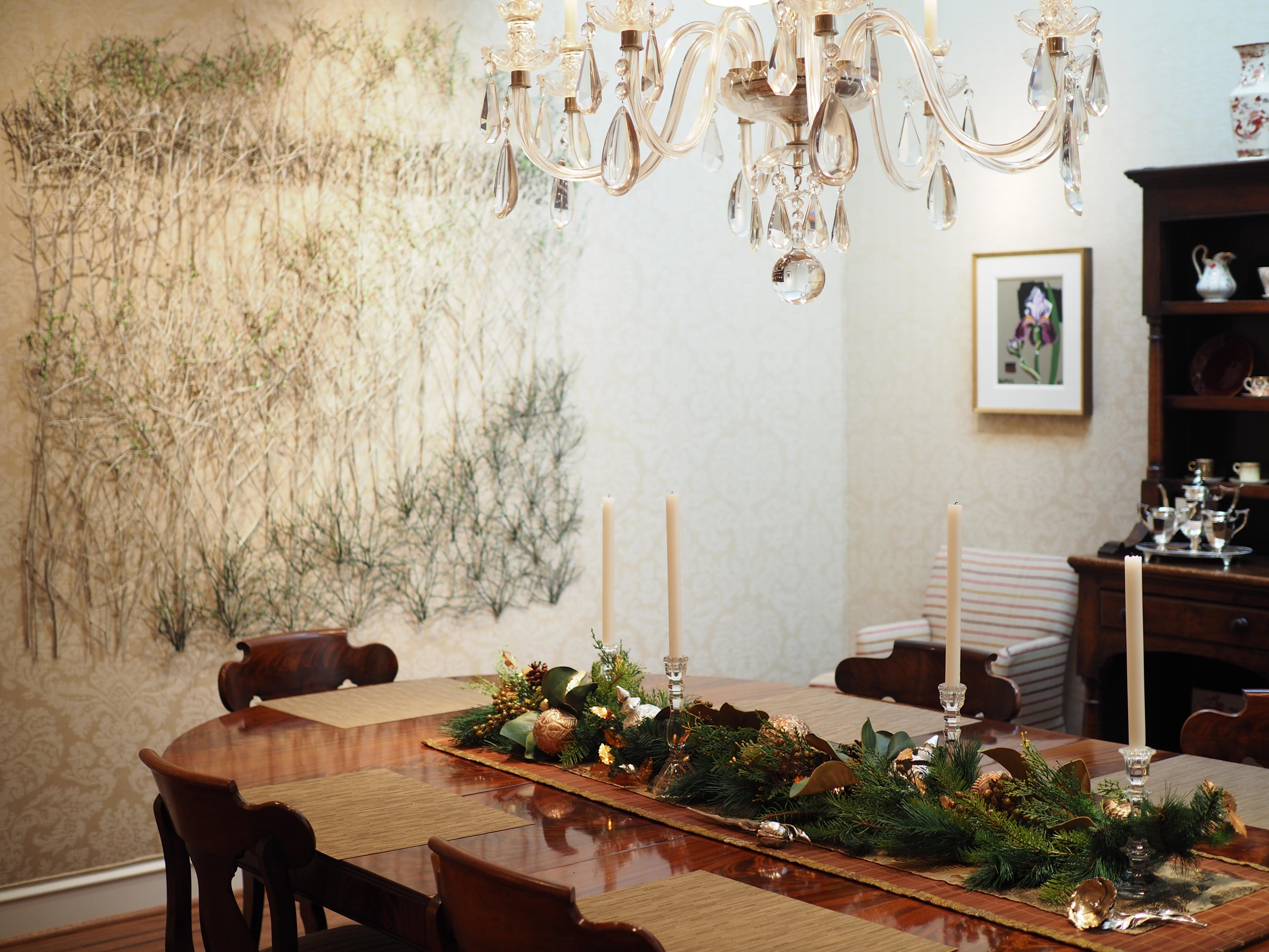 Minimal Dining Room Centerpiece