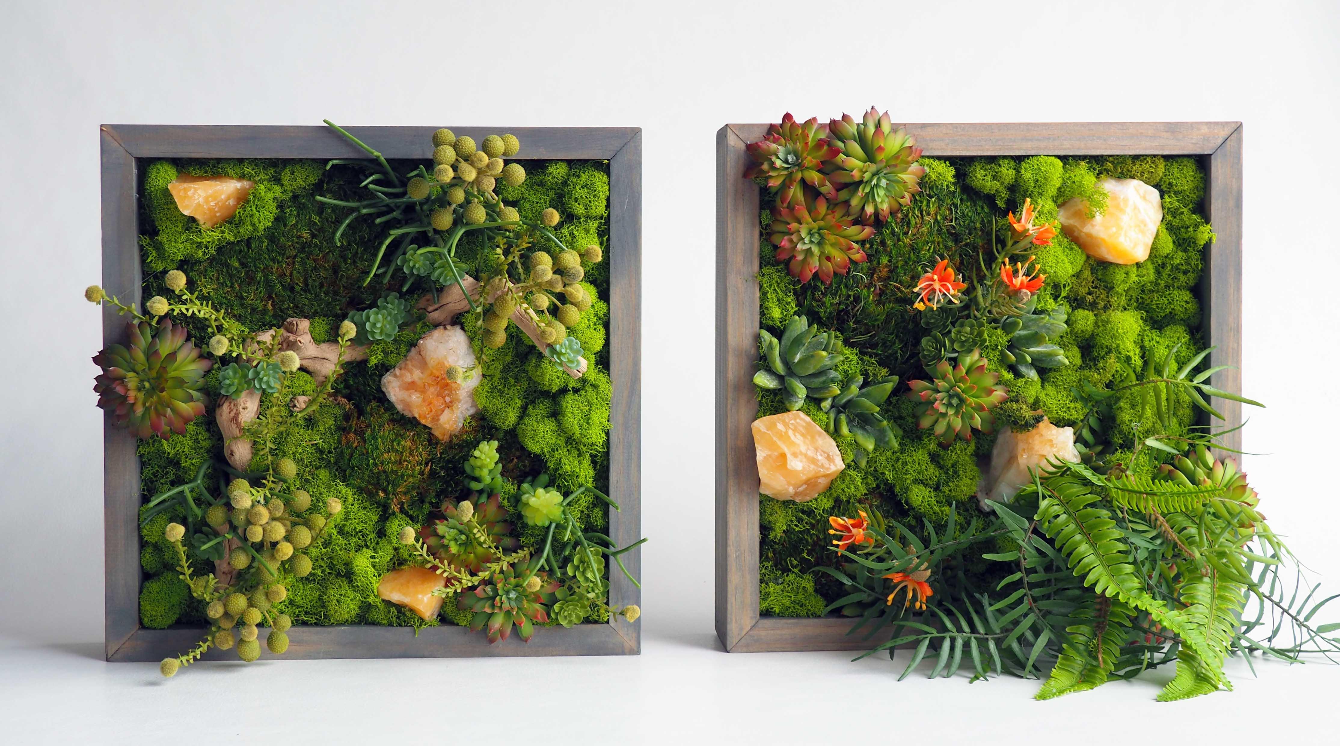 """Framed mini """"Living"""" Wall"""