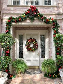 Custom front door garland and wreath