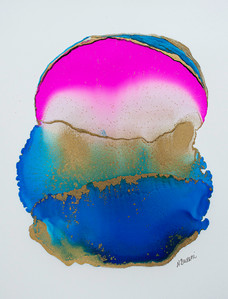 Blue and Pink Agate