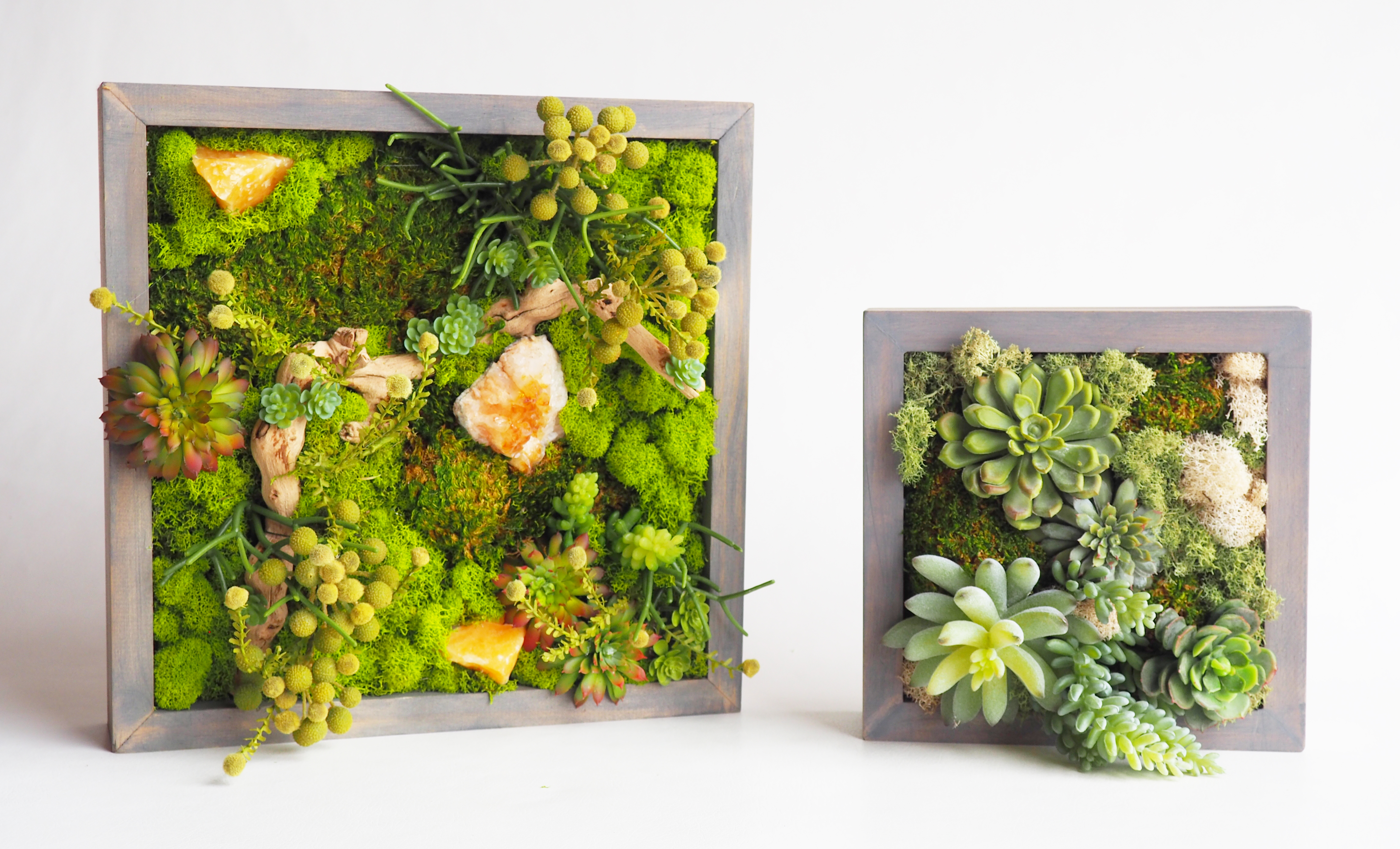 "Framed mini ""Living"" Walls"