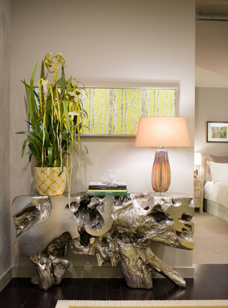 Exotic orchid for entryway