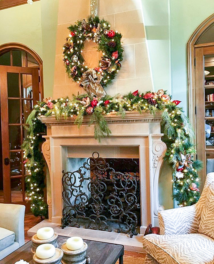 Custom Christmas Decorations In Traditional Home Southlake TX