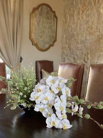 Asymetrical orchid arrangement