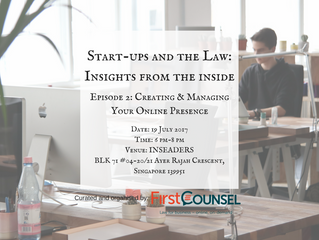 Upcoming Event for July                       'Start-ups & the Law: Insights from the Inside