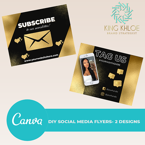 Canva DIY Subscribe and Selfie Template