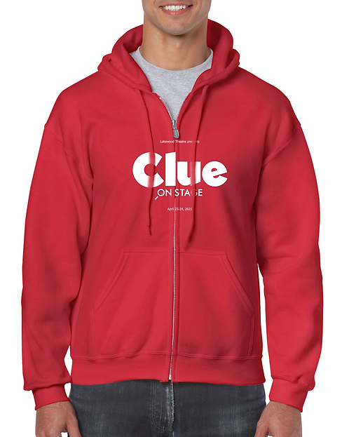 Clue - Zippered Hoodie (red)