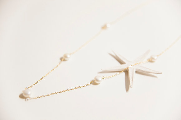 【売り切れ】おおきなパールの長いつぶつぶネックレス