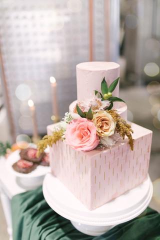 Pink Buttercream Wedding Cake