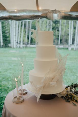 Celestial Sail Wedding Cake