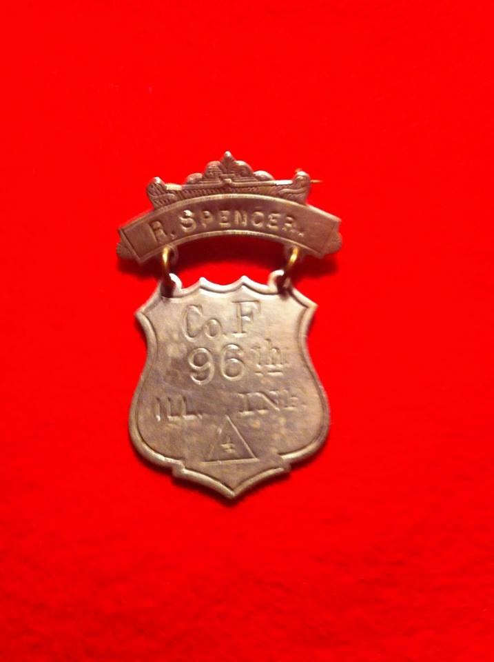 96th Illinois Inf G.A.R. Badge
