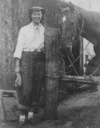 Cave Hill Woman with Horse 1940s.jpg