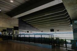 Under balcony area with treatment