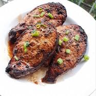 Honey Jerk Salmon Steaks