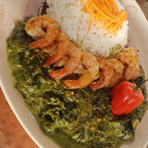 Callalloo and Shrimp