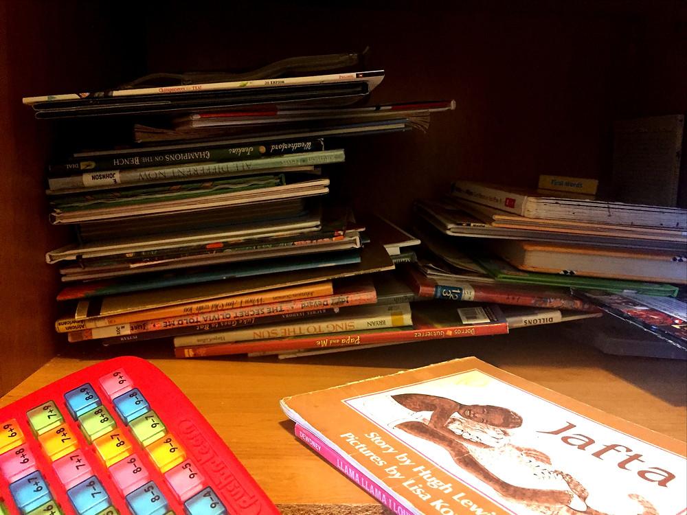 #books #homeschool #organization