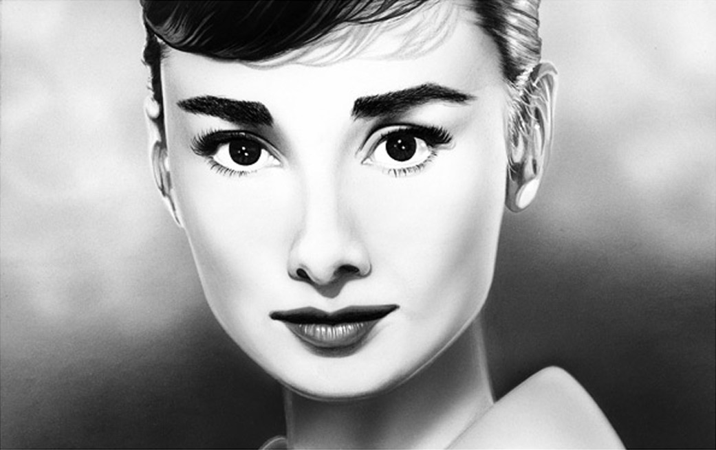 Airbrush portrait by Tom Wegrzyn