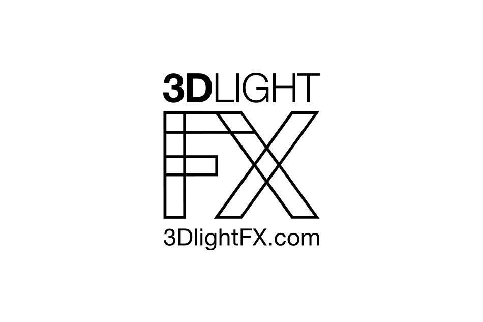 3D light FX black and white logo for 3Dlightfx by Tom Wegrzyn, an internationally award winning artist, designer, inventor living in West Palm Beach, Florida. Tom Wegrzyn specializes in Brand Development, Design, Portraits, Paintings, Illustration, and Photo-Retouching.