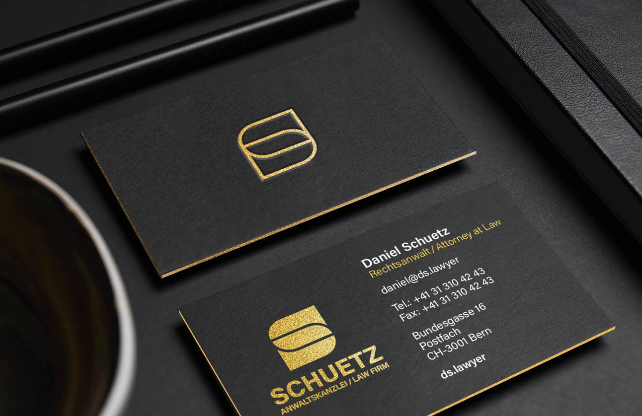 Schuetz Law Firm Business Card