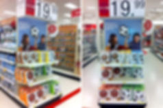 3D light FX endcap at Target USA with products invented and designed by Tom Wegrzyn, an internationally award winning artist, designer, inventor living in West Palm Beach, Florida. Tom Wegrzyn specializes in Brand Development, Design, Portraits, Paintings, Illustration, and Photo-Retouching.