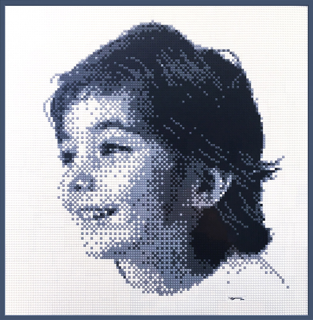 Lego portrait by Tom Wegrzyn