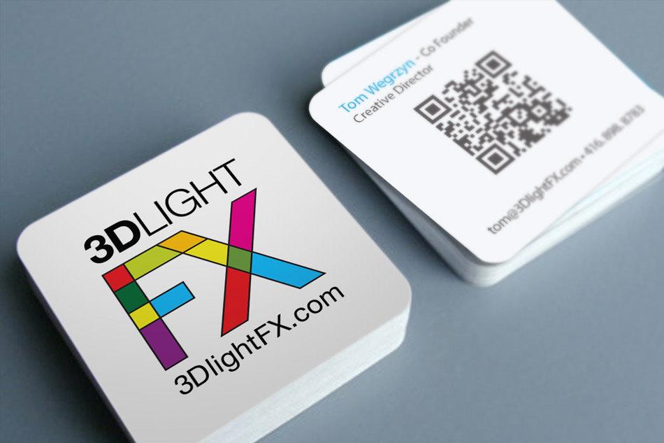 Best kids product company business cards designed for 3Dlightfx by Tom Wegrzyn, an internationally award winning artist, designer, inventor living in West Palm Beach, Florida. Tom Wegrzyn specializes in Brand Development, Design, Portraits, Paintings, Illustration, and Photo-Retouching.