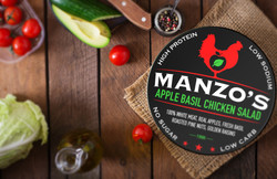 Manzo's Chicken Salad Label