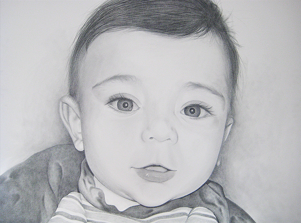 Pencil portrait by Tom Wegrzyn