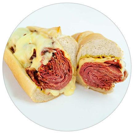 Manzo's Italian Deli - Hot Pastrami, Melted Swiss w/N.Y. Deli Mustard