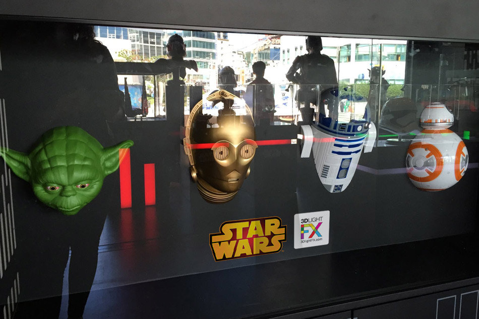 Disney Star Wars 3D Deco Lights, including Yoda, C-3PO, R2-D2 and BB-8 invented and designed by Tom Wegrzyn, an internationally award winning artist, designer, inventor living in West Palm Beach, Florida. Tom Wegrzyn specializes in Brand Development, Design, Portraits, Paintings, Illustration, and Photo-Retouching.