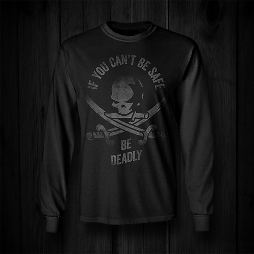 Be Deadly Long-Sleeved Shirt | Black