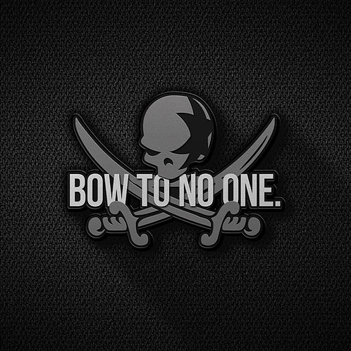 BOW TO NO ONE. 3D Skull Patch