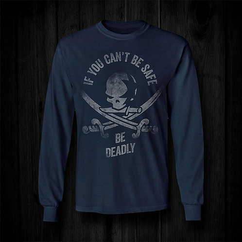 Be Deadly Long-Sleeved Shirt | Navy