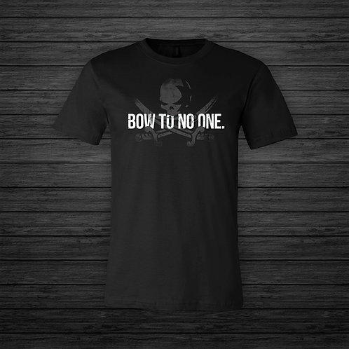 BOW TO NO ONE  Ghost Tee | Black