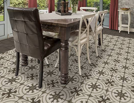 retro tile in dinette