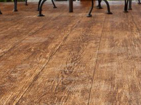 weathered wood floor