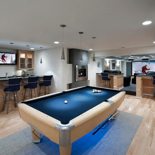 laminate flooring under pool table