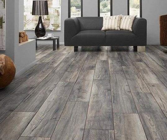 gray hardwood floor
