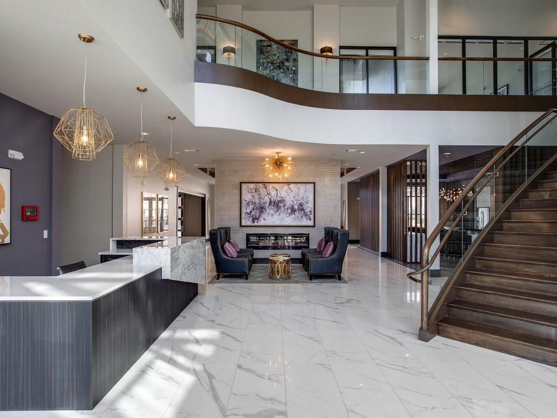 marble entry & bar area
