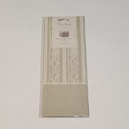 ViviGade Decopatch Paper 10 Sheets Skagen Grey Dotts