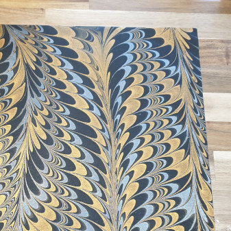 Papermirchi Marbled Black Wrapping Paper