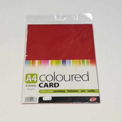 Club Coloured Card A4 8 Sheets
