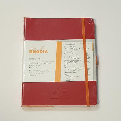 Rhodia Red Perpetual Planner 14.8x21cm